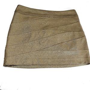 Express gold bandage mini skirt size 4